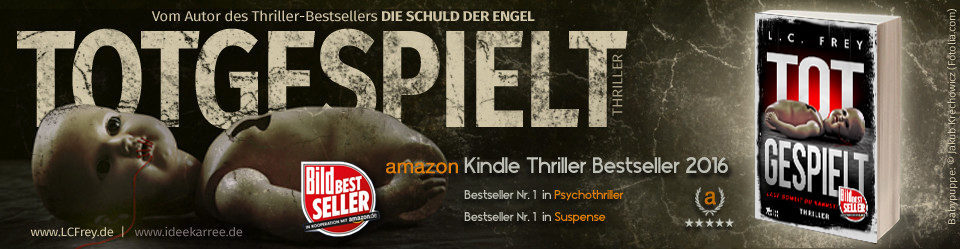 Krimiautor Alex Pohl   Thriller-Bestsellerautor L.C. Frey